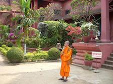Outside Phnom Penh's National Museum